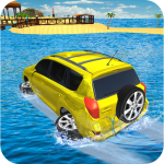 Water Surfer Jeep Cars Race on Miami Beach 1.5 (MOD, unlimited money)
