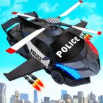 Flying Police Helicopter Car Transform Robot Games 29 (MOD, unlimited money)