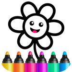 Toddler Drawing Academy🎓 Coloring Games for Kids  (MOD, unlimited money) 1.4.3.2
