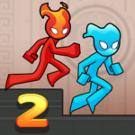 Fire and Water Stickman 2 : The Temple  MOD APK 0.3.4